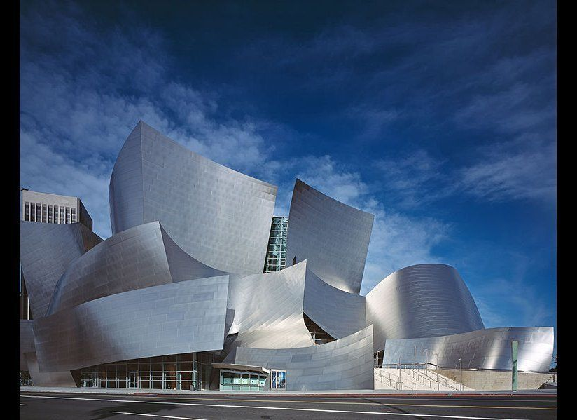 "Walt Disney Concert Hall by <a href=""http://www.foga.com/"" target=""_hplink"">Frank O. Gehry & Partners</a> in Los Angeles, USA"