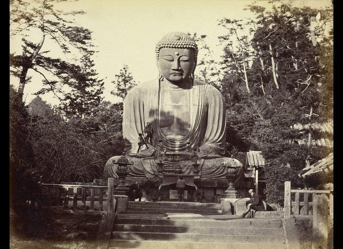 The Bronze Statue of Dai Bouts, Kamakura, 1863