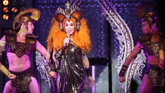 AUCKLAND, NEW ZEALAND - SEPTEMBER 21:  Cher performs at Spark Arena on September 21, 2018 in Auckland, New Zealand.  (Photo by Hannah Peters/Getty Images)