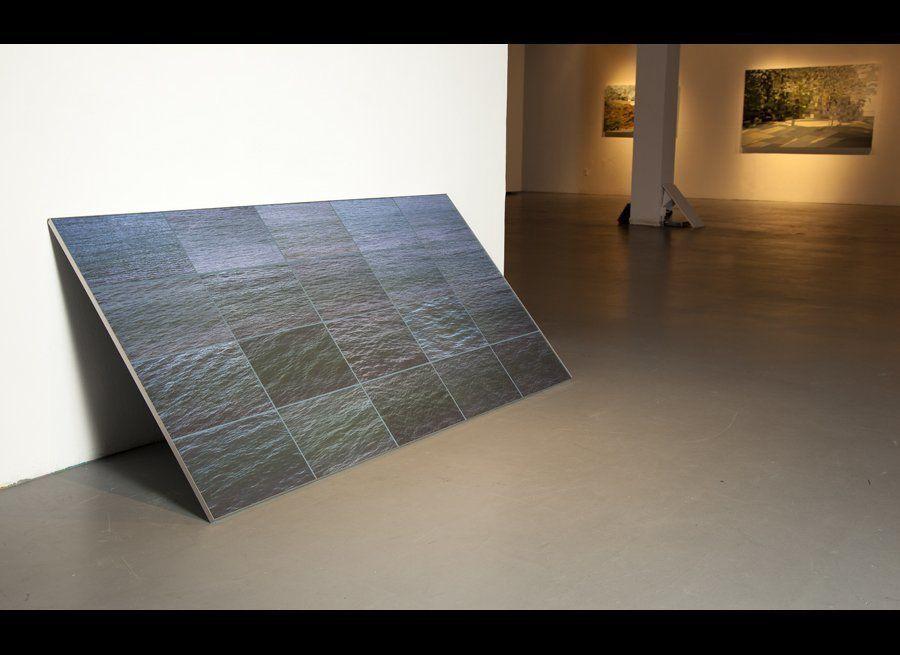 """Seth Curcio, Surface Decent, 38"""" x 72"""", 2011"""