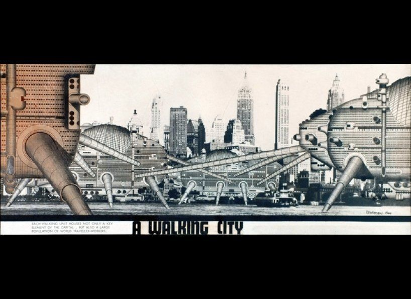 Walking City imagines a future of modern nomads and fast-paced lifestyle. Although radical in itself, it anticipated a lot of