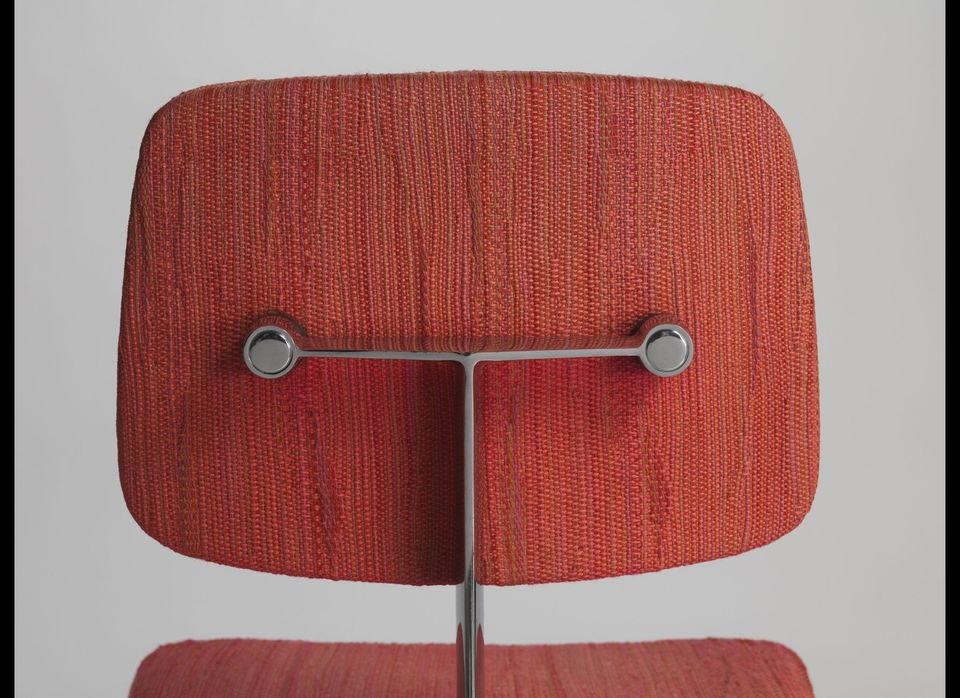 Marga Hielle Vatter (upholstery) and Max Pearson (chair). Detail, Dynamic upholstery on model 46 chair. Ca. 1973.