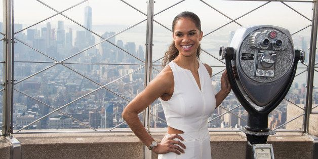 Glamour's Magazine's Women of the Year honoree Misty Copeland visits the Empire State Building's 86th floor observatory in ho
