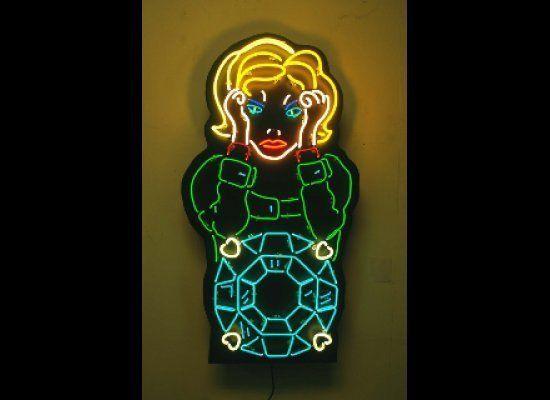 "Amanda Eliasch, ""Envy"", neon art piece, 2011."