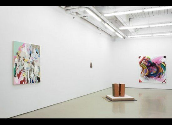 "<em>Affinities: Painting in Abstraction</em>. Installation view. <a href=""http://www.damelioterras.com/home.html?dt=1"" target"