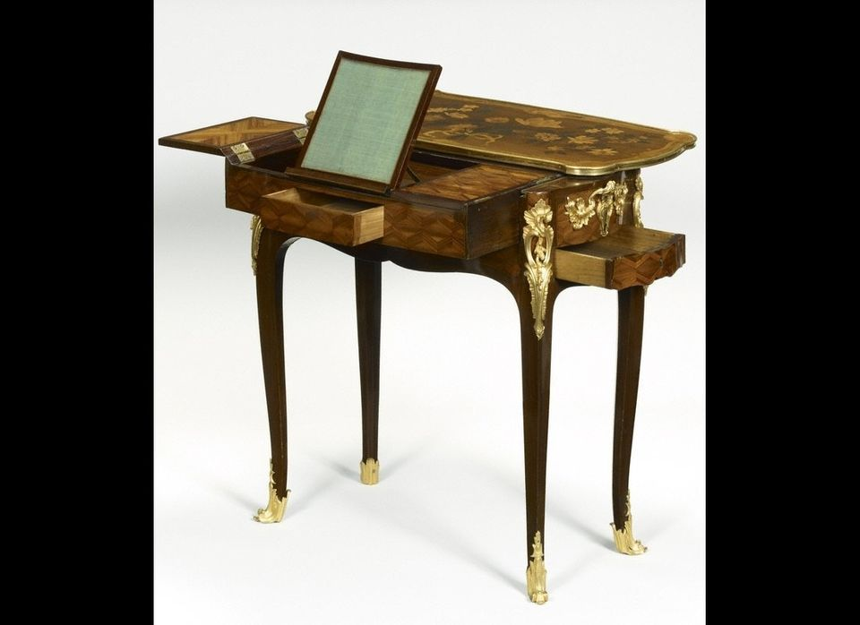 """Jean-François Oeben, """"Mechanical Reading, Writing, and Toilette Table,"""" about 1750."""