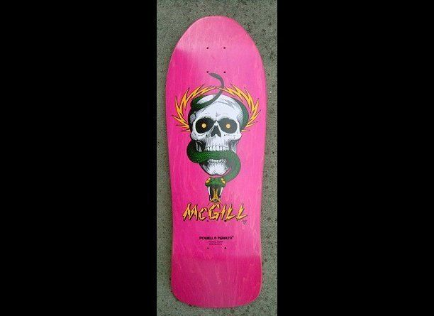 Zane Lewis' skateboard.