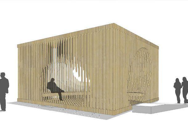 South View. CGI of Genesis: the commission by David Adjaye for Design Miami/ 2011. Renderings courtesy of Adjaye Associates.