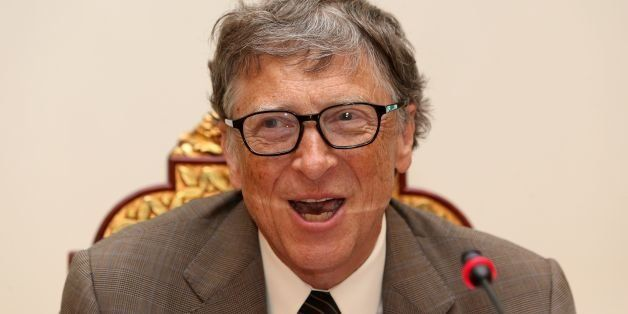 Bill Gates, Microsoft founder and co-chairman of the Bill and Melinda Gates Foundation, speaks during a press conference in D