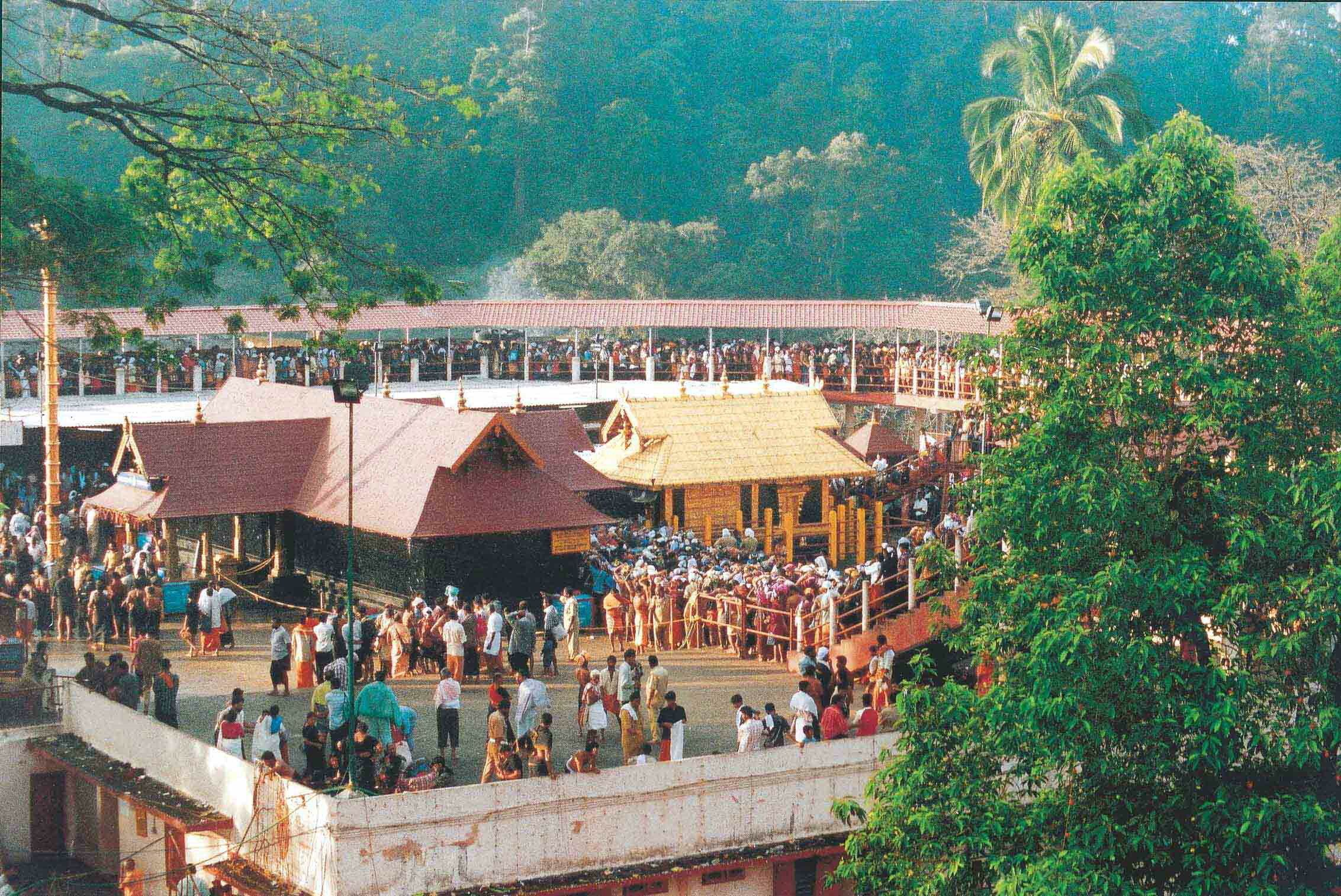 Devotees gather at Kerala's Sabarimala Temple to worship Lord Ayyappa, a Hindu deity.