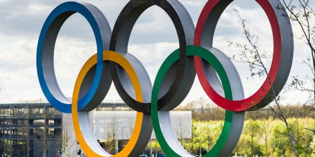 The Olympic Rings inside the Queen Elizabeth Olympic Park in East London, the site of the 2012 Summer Olympics and Paralympic