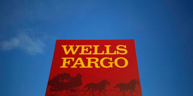 A Wells Fargo branch is seen in the Chicago suburb of Evanston, Illinois, U.S. on February 10, 2015.  REUTERS/Jim Young/File