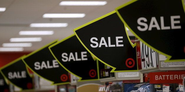 Advertising for Black Friday sales are on display at a Target store in Chicago, Illinois, United States, November 27, 2015. R