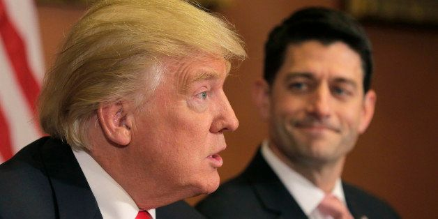 U.S. President-elect Donald Trump (L) meets with Speaker of the House Paul Ryan (R-WI) on Capitol Hill in Washington, U.S., N