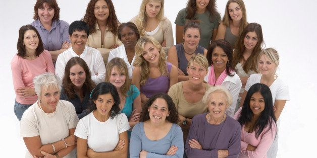 Diverse group of women with arms crossed