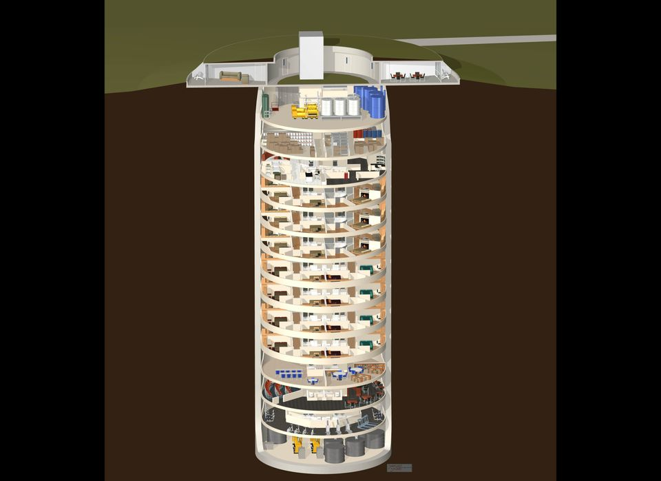 Conceptual Diagram Showing Silo Cutaway View with Torus Cap