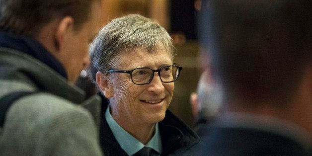 NEW YORK, NY - DECEMBER 13: Businessman Bill Gates arrives at Trump Tower, December 13, 2016 in New York City. President-elec