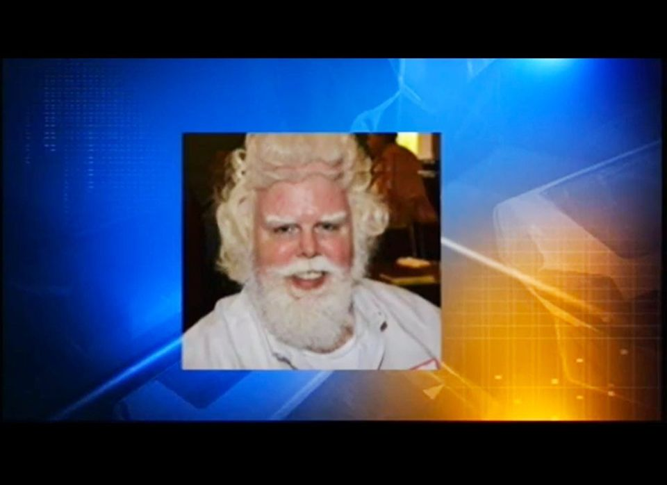 """Photo of Thomas Tolbert, who was asked to leave Disney World because he looked too much like Santa. Credit: WKMG <a href=""""htt"""
