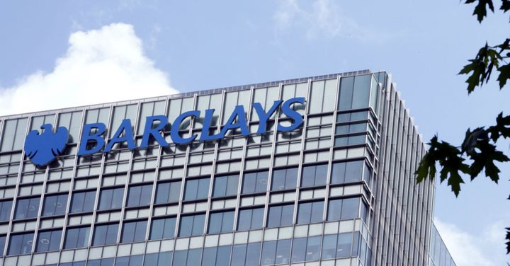 A general view of the Barclays building in Canary Wharf, London.