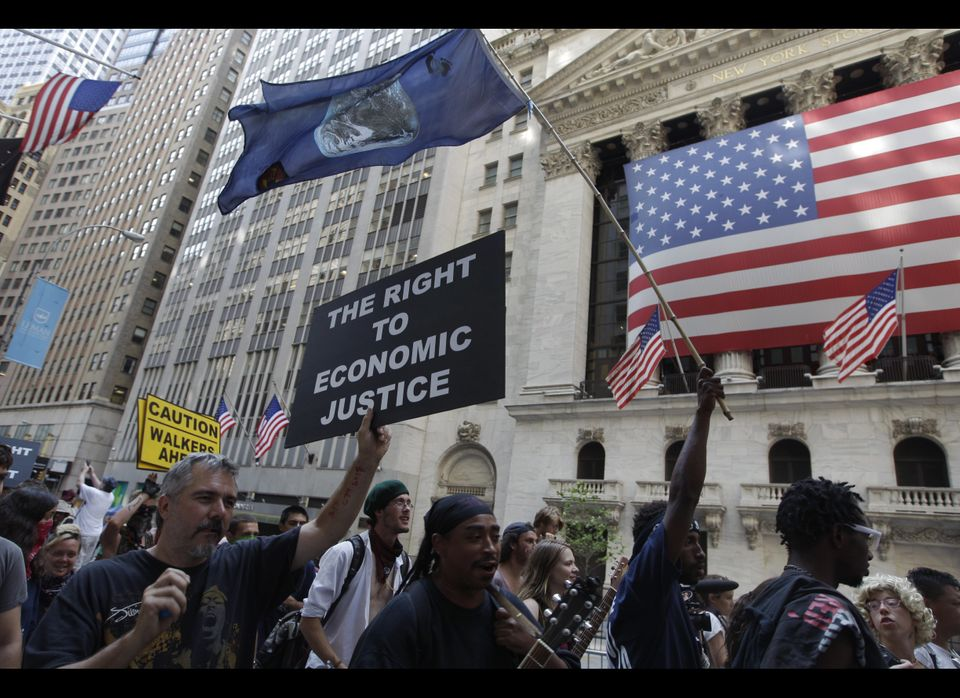 "A central tenet to the Occupy Wall Street movement, a call for economic justice has brought increased <a href=""http://www.huf"