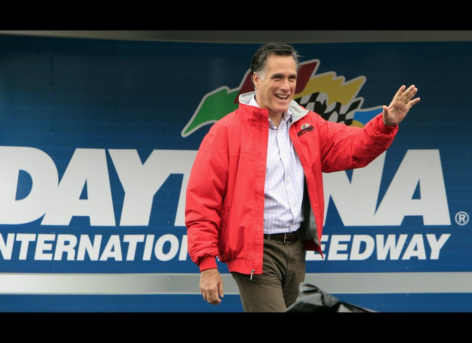"At the Daytona 500 race, Mitt Romney's <a href=""https://www.huffpost.com/entry/mitt-romney-nascar-team-owners_n_1303029"" targ"