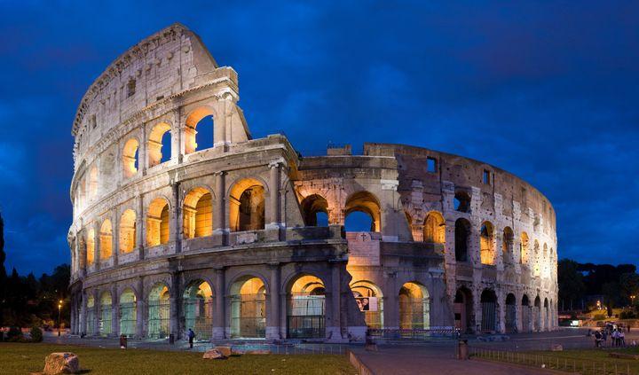 Colosseum at dusk September 5, 2007