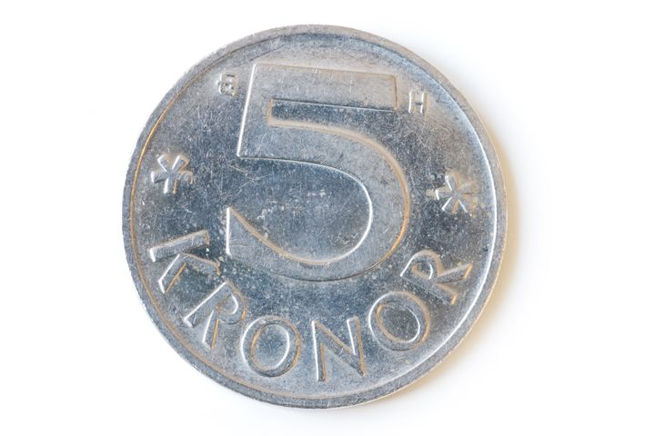 swedish five coin isolated