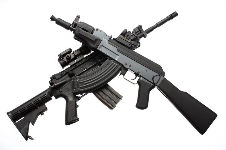 an american m4 assault rifle...