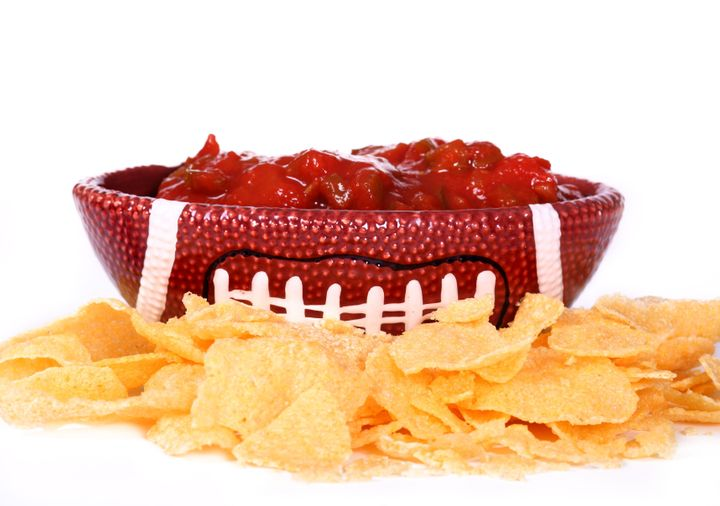 ceramic football dish with...