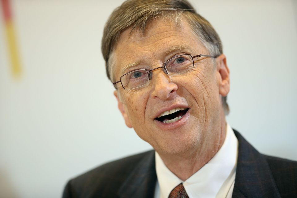"""Microsoft founder <a href=""""http://www.thesun.co.uk/sol/homepage/features/3144438/Bill-Gates-Im-not-leaving-my-fortune-to-my-c"""
