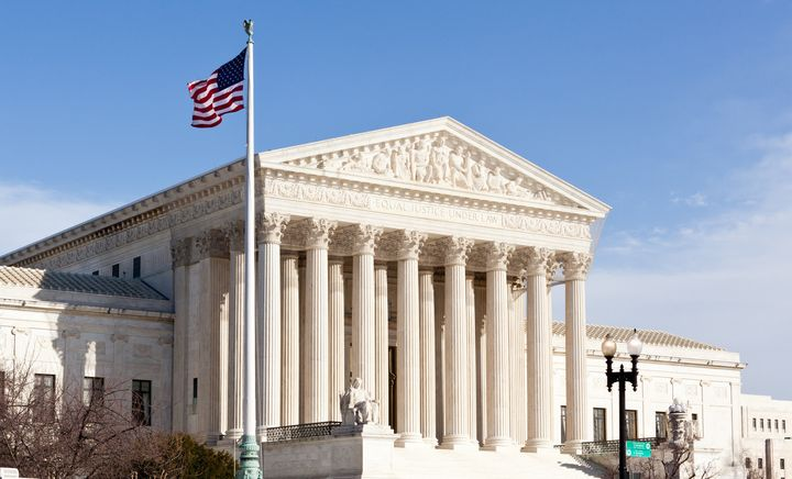 facade of us supreme court in...