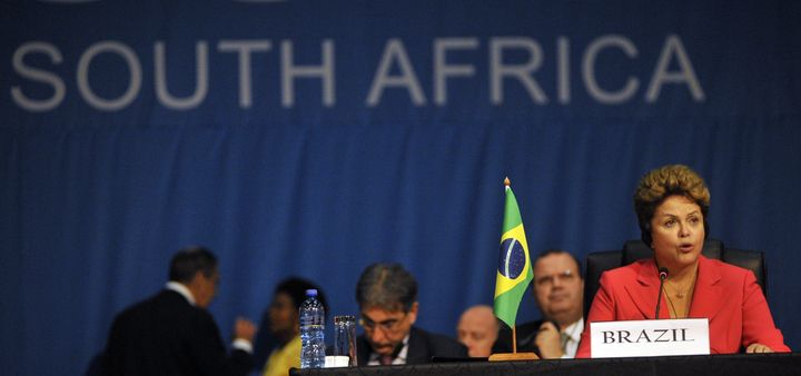 President of Brazil Dilma Rousseff , addresses the 5th Brics summit in Durban on March 27, 2013. Leaders from the BRICS group
