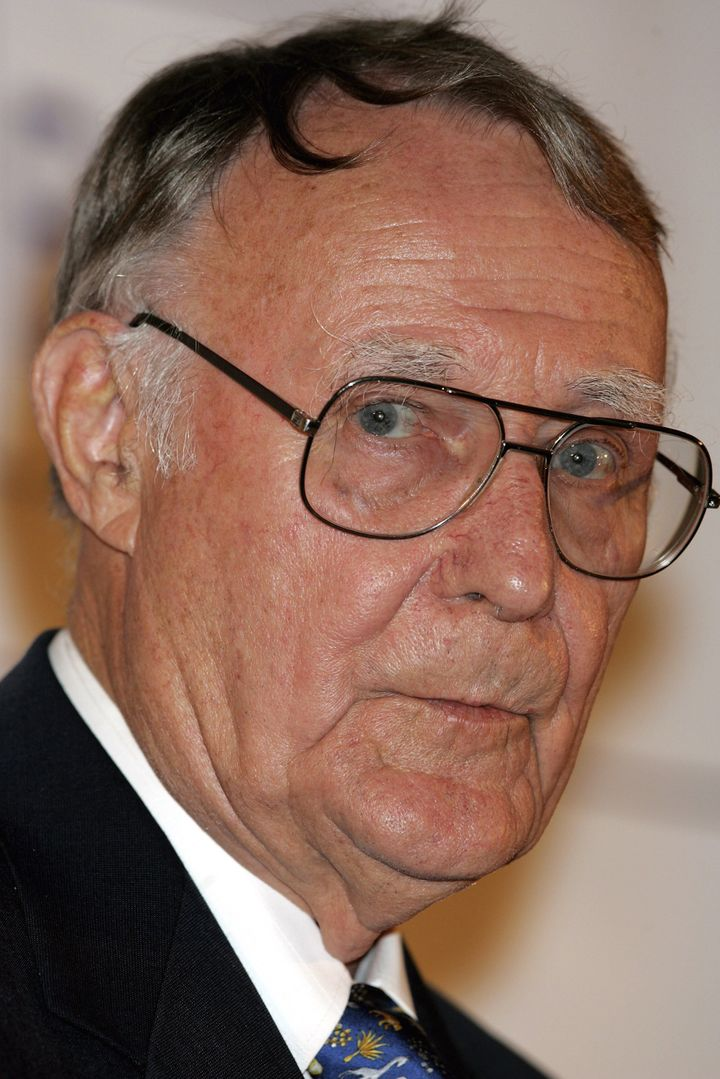 LONDON - MAY 12:  Ingvar Kamprad, founder of IKEA, is seen after being presented the Lifetime Achievment Award by Princess Vi