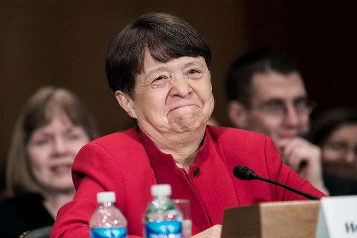 WASHINGTON, DC - MARCH 12:  Mary Jo White, nominee for chair of the U.S. Securities and Exchange Commission, testifies at a c