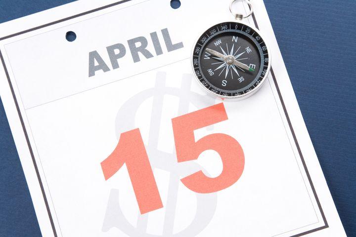 tax day  calendar date april 15 ...