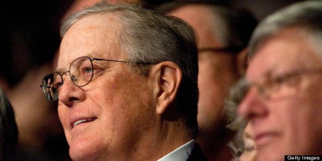 Billionaire David Koch, chairman of the board of the conservative Americans for Prosperity (AFP) advocacy group, attends a 'C