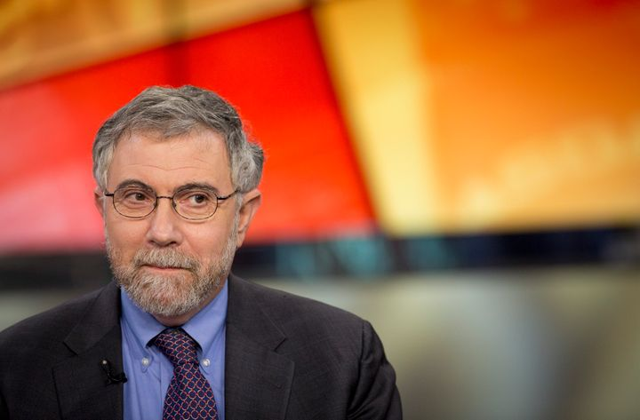 Nobel Prize-winning Economist Paul Krugman, professor of international trade and economics at Princeton University, pauses during a Bloomberg Television interview in New York, U.S., on Monday, Jan. 28, 2013. Krugman discussed the performance of bonds, Fed monetary policy, and the U.S. economy compared with that of Japan. Photographer: Scott Eells/Bloomberg via Getty Images