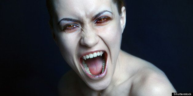 sexy vampire. studio photo.
