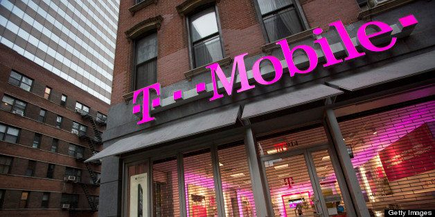 A T-Mobile USA Inc. retail location stands in New York, U.S., on Friday, April 12, 2013. T-Mobile USA Inc., the fourth-larges