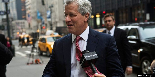 James 'Jamie' Dimon, chief executive officer of JPMorgan Chase & Co., arrives at an investors meeting at company headquarters