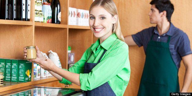 Owner/Waiter Ordering Bakery Shelf