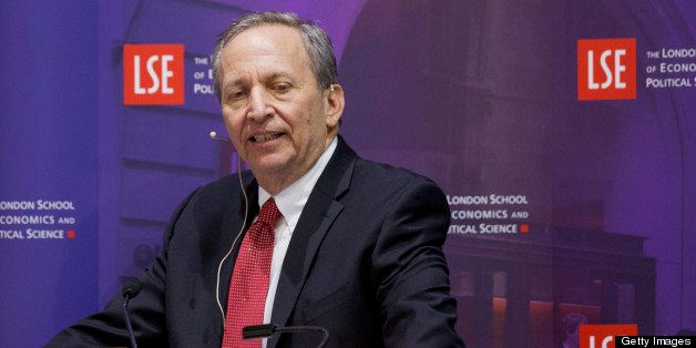 Lawrence H. 'Larry' Summers, former U.S. Treasury secretary, speaks during a financial and economic event at the London Schoo
