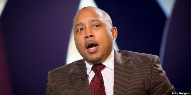 Daymond John, co-founder and chief executive officer of Fubu, speaks during an interview in New York, U.S., on Friday, Jan. 2
