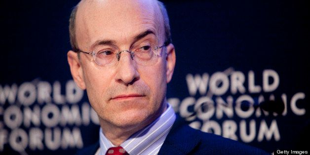 Kenneth Rogoff, professor of economics at Harvard University, participates in a session on the third day of the World Economi