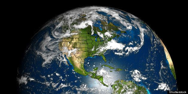the earth with accurate country ...