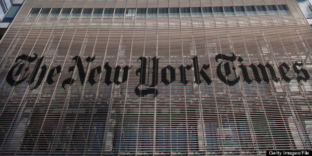 New York Times office building in Manhattan.