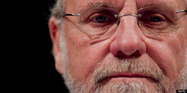 Jon S. Corzine, former chairman and chief executive officer of MF Global Holdings Ltd., testifies during a House Financial Se