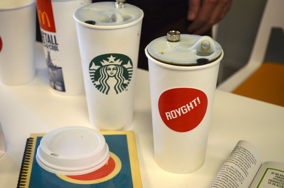 Royght!, based in Southern California, is developing an accessory that turns any Starbucks venti cup into a water pipe. The g