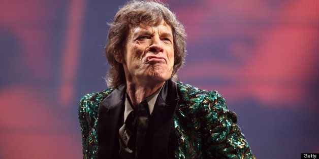 GLASTONBURY, ENGLAND - JUNE 29:  Sir Mick Jagger of The Rolling Stones performs on the Pyramid Stage at Glastonbury Festival