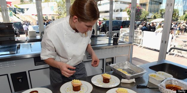 CANNES, FRANCE - MAY 21:  A general view of atmosphere at Chef's Table by Electrolux with Bruno Oger at Electrolux Agora Pavi